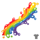 Rainbow Splash Ribbon