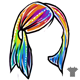 Rainbow Female Hair