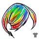 Rainbow Male Hair
