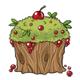 Berry Bush Cupcake