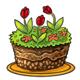 Tulip Earth Cake