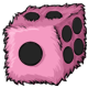 Magical Pink Fuzzy Dice