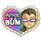 April is a Bum Stamp