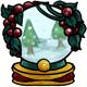 Mistletoe Snow Globe