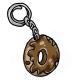 Brown Doughnut Key Chain